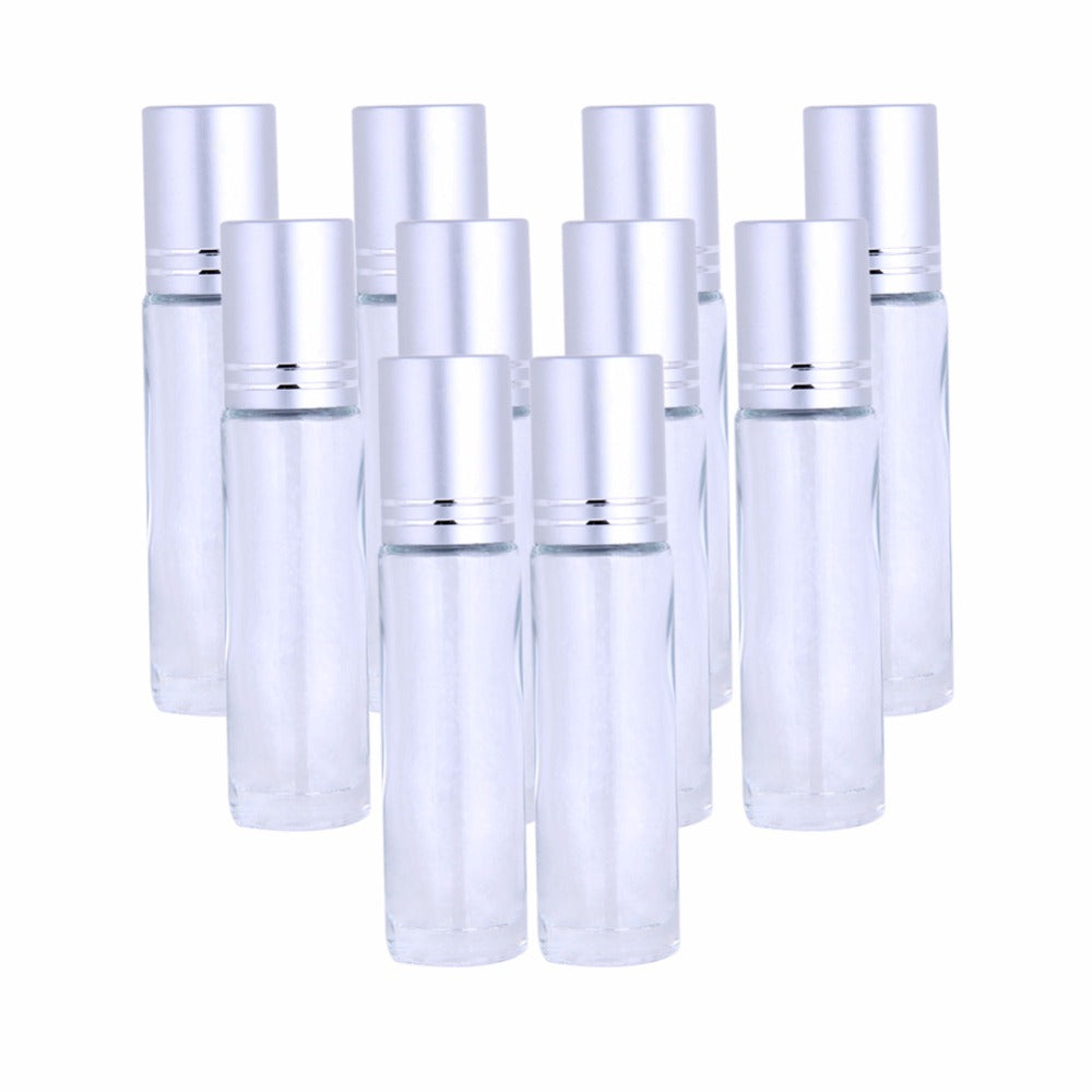 10 Piece Essential Oil Gemstone Roller Bottle Set