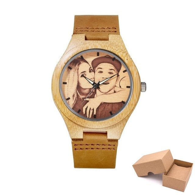 Personalised Bamboo Wooden Watch