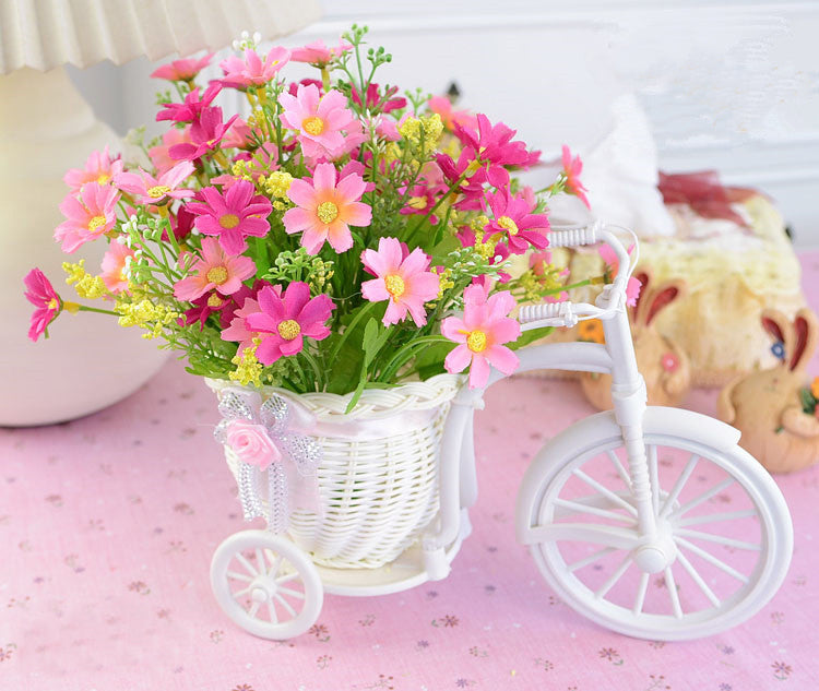 Flower with bicycle design vase