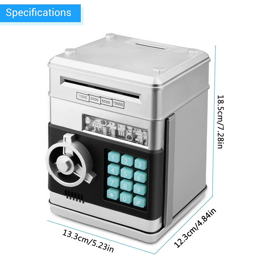Electronic Piggy Bank ATM Password Cash Coins Money Box