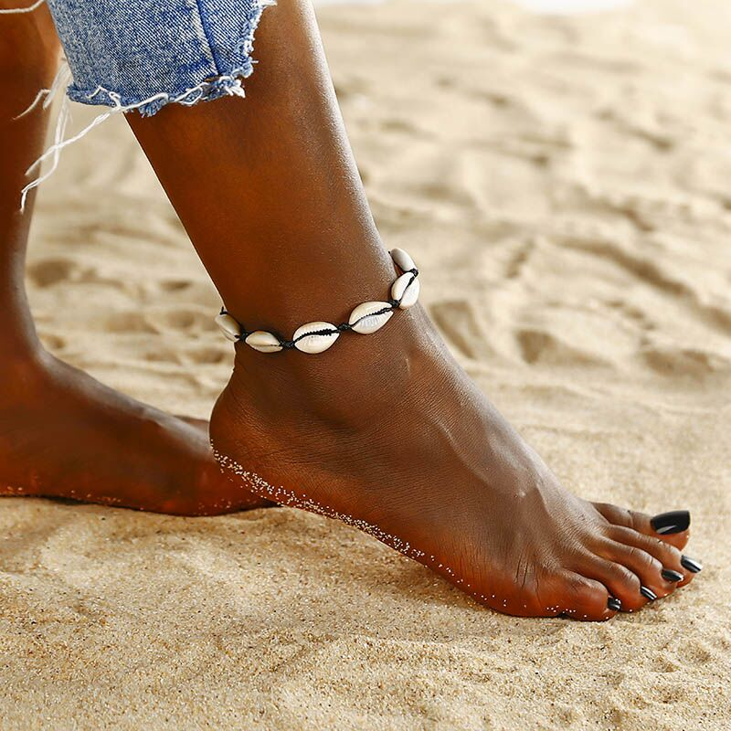 Real Shell Summer Style Anklet