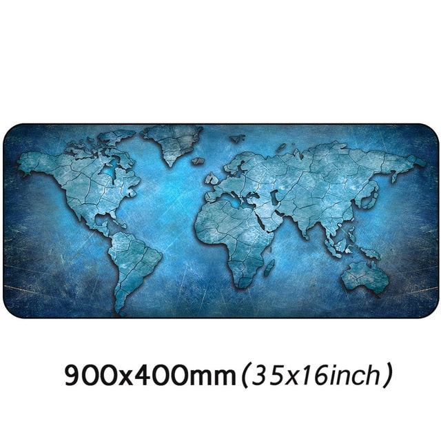 Large World Map Mouse Pad