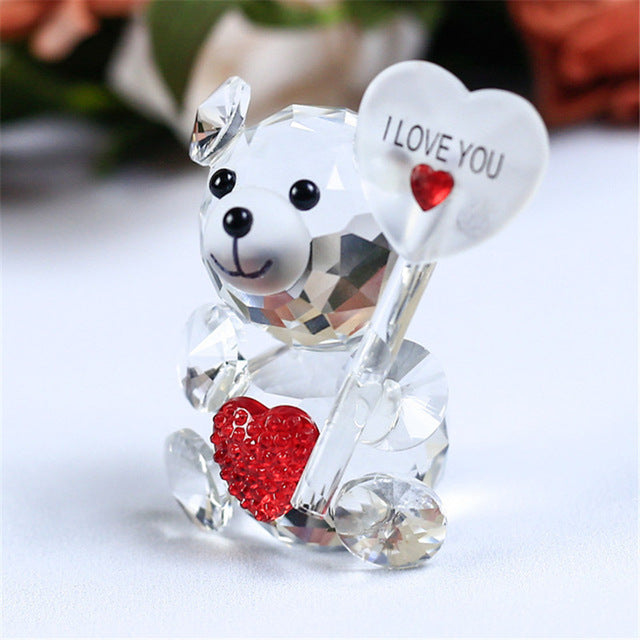 Delicate Crystal Teddy Bear Ornament