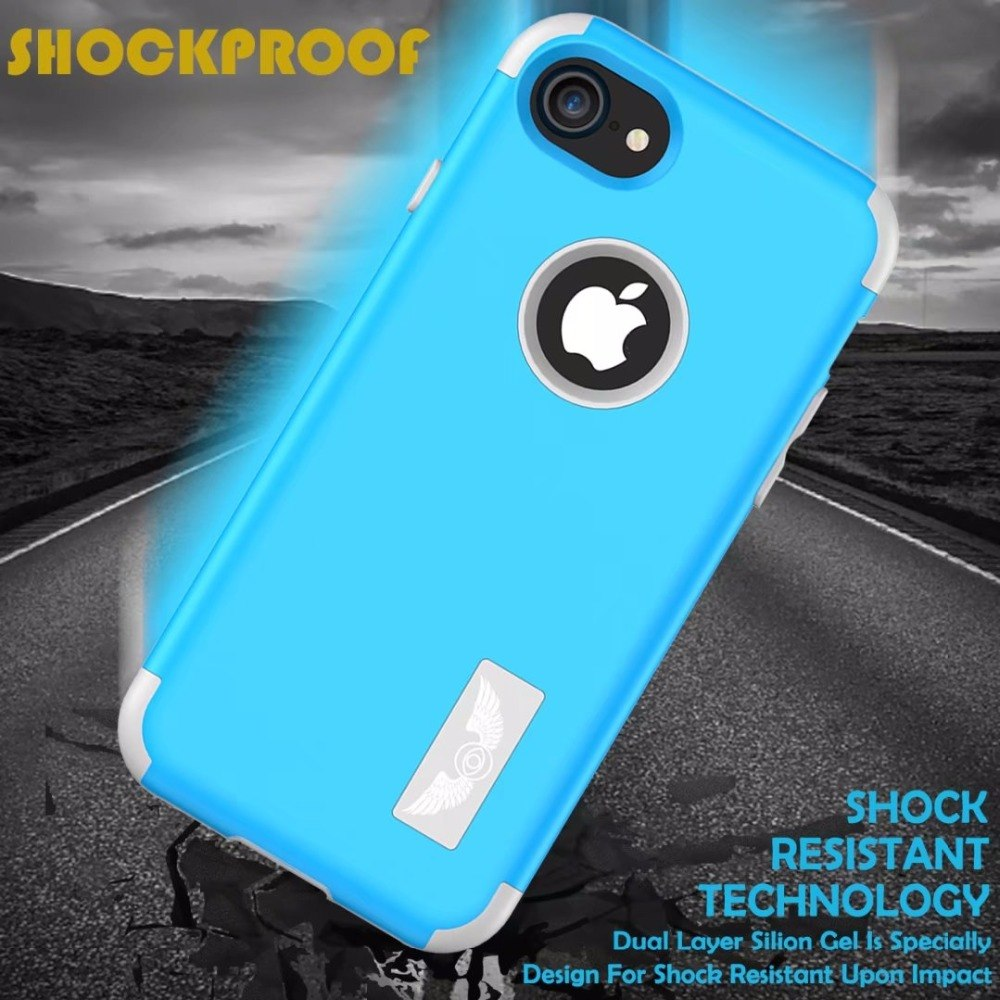 3 in 1 Shockproof Armour Case for iphone Models-360 Full Body Protection