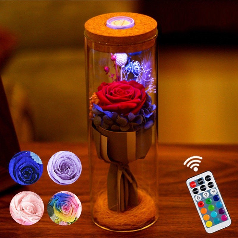 LED Colour Changing Real Enchanted Rose Night Light