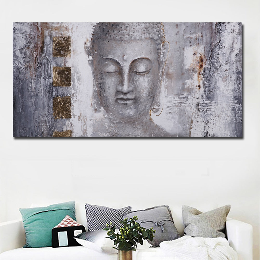 Abstract Buddha Modern Art Canvas Print