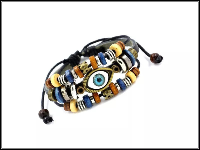 Handmade Multilayer Spiritual Leather Bracelet- Adjustable - Unisex