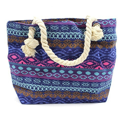 Bags, Bali Blues, Beach Bags, Classic Rope Handled Bags, Ethnic Bags, Rope Handle Bag, Shopping
