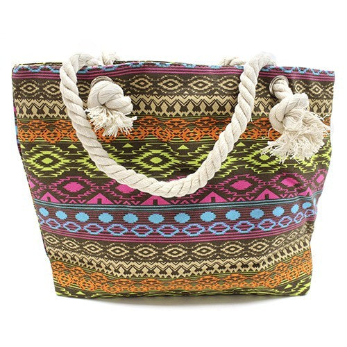 Bags, Bali Tan & Tones, Beach Bags, Classic Rope Handled Bags, Ethnic Bags, Rope Handle Bag, Shopping