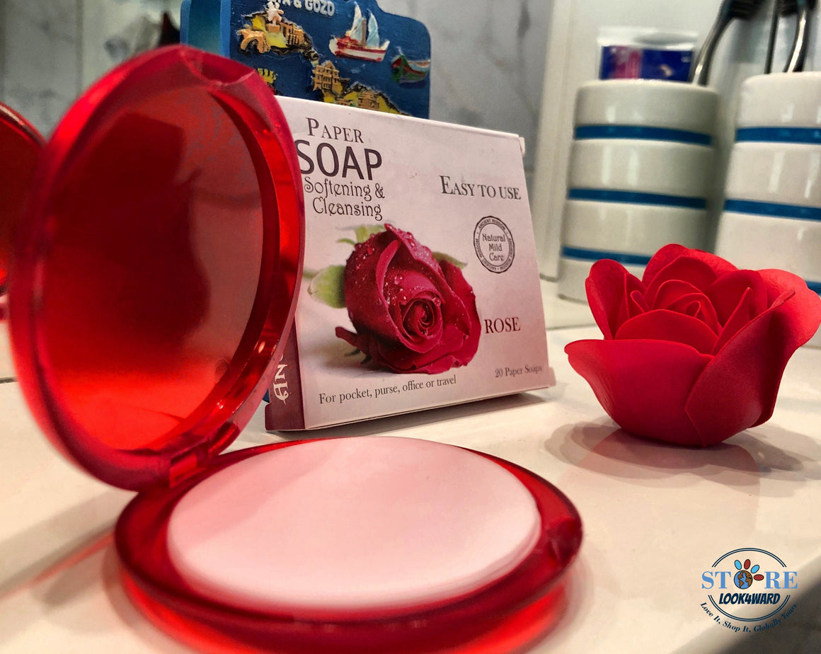 Compact Rose Paper Soap (Set of 20)