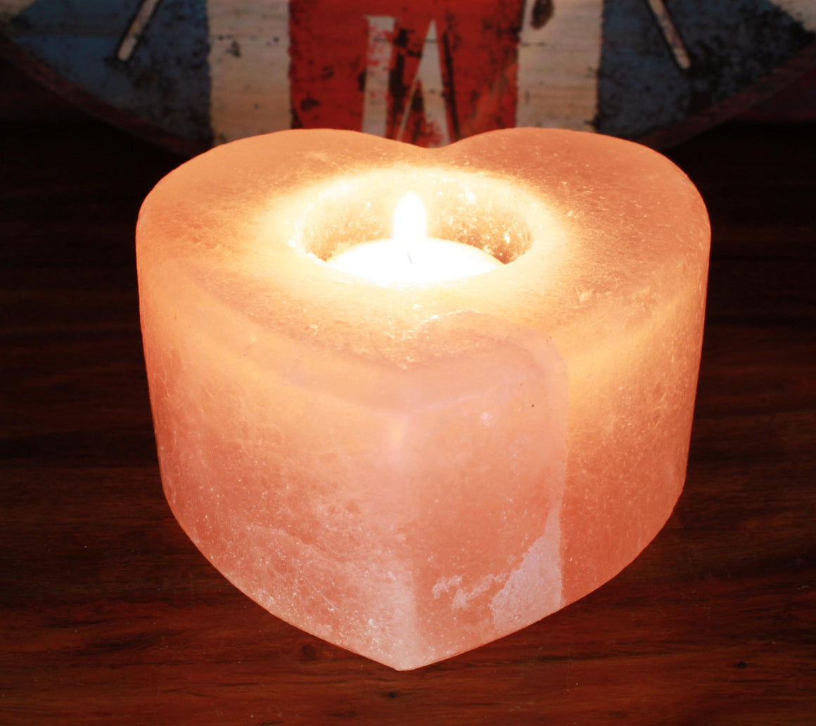 Salt Candle Holder - Heart