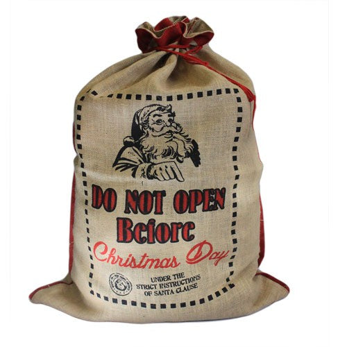 Jute Santa Sack - Do Not Open Before
