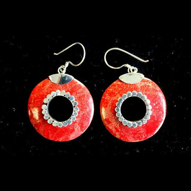 Do-nuts Coral Earrings