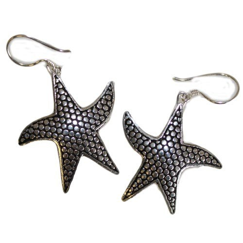 Silver Earrings - Star Fish