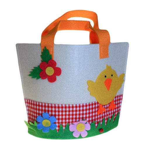 Bags, Chick, Easter, Felt Gift Bag, Gift, Kids, Large, Unusual Bags