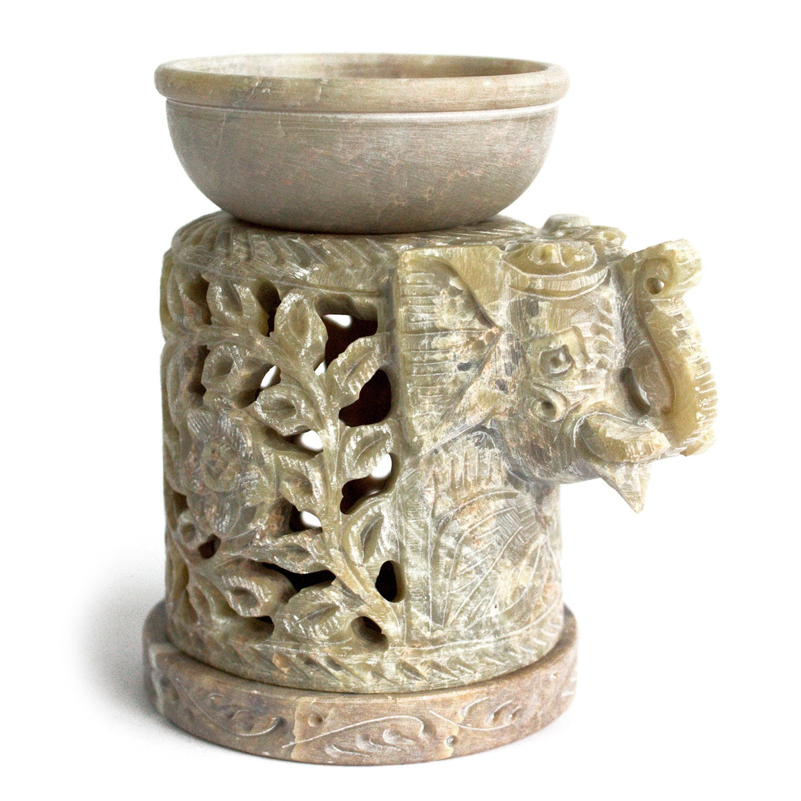 Elephant Soapstone Oil Burner
