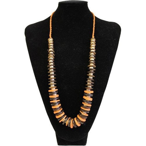 Coconut Necklace - Orange