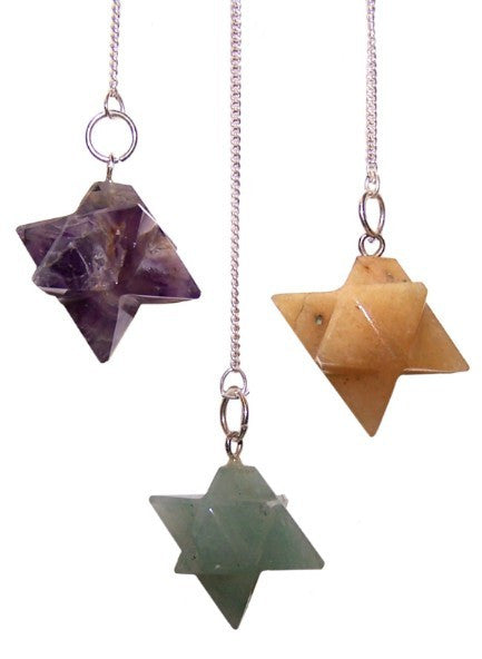 Merkaba (Star) Pendulum (Assorted Stones)