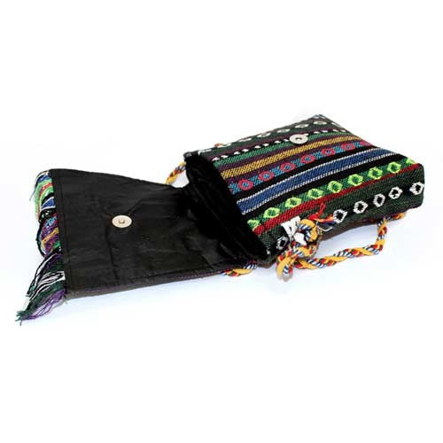 Over Flap & Pouch Tibetan Fringe Ethnic Bag