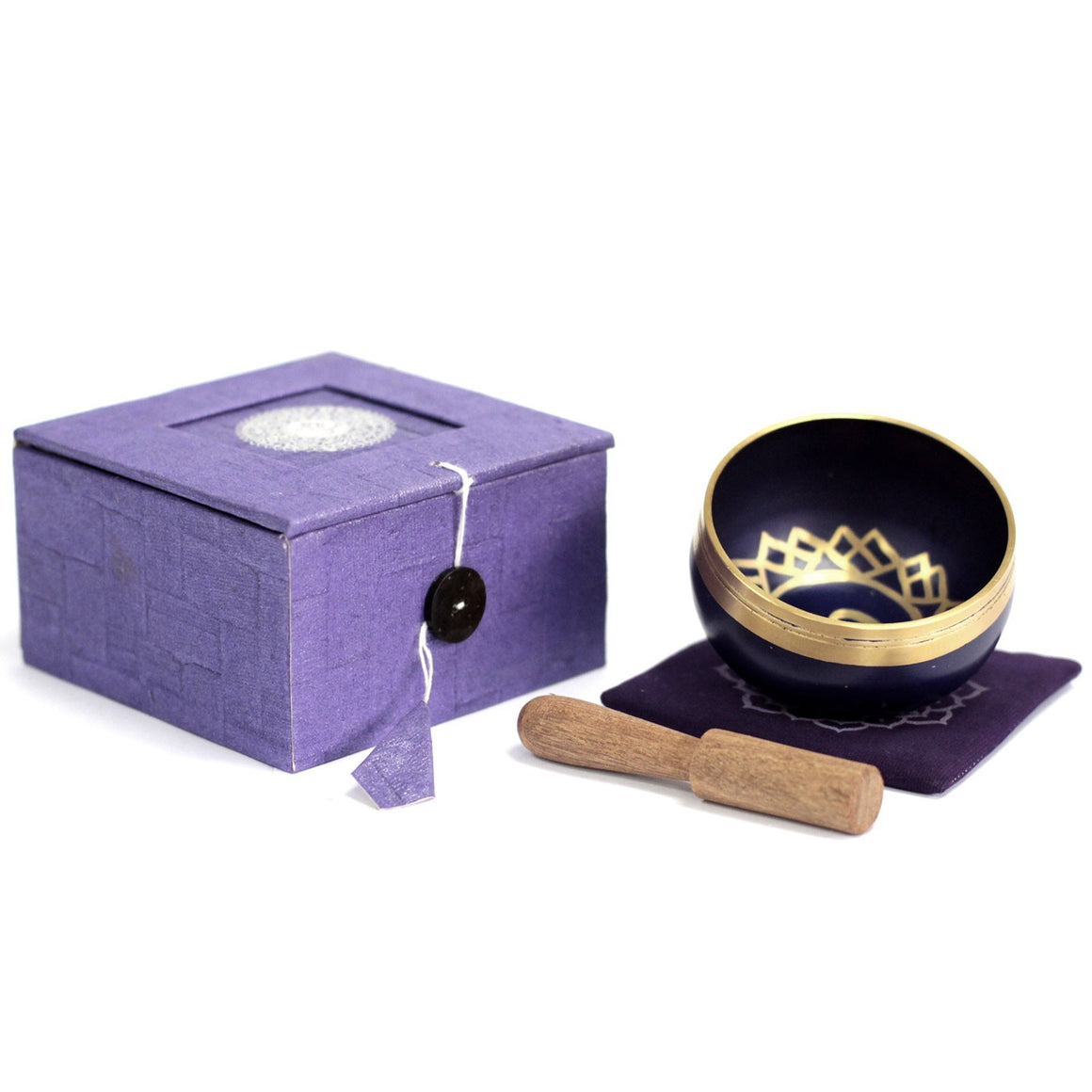 Tibetan Singing Bowl Set - Crown Chakra