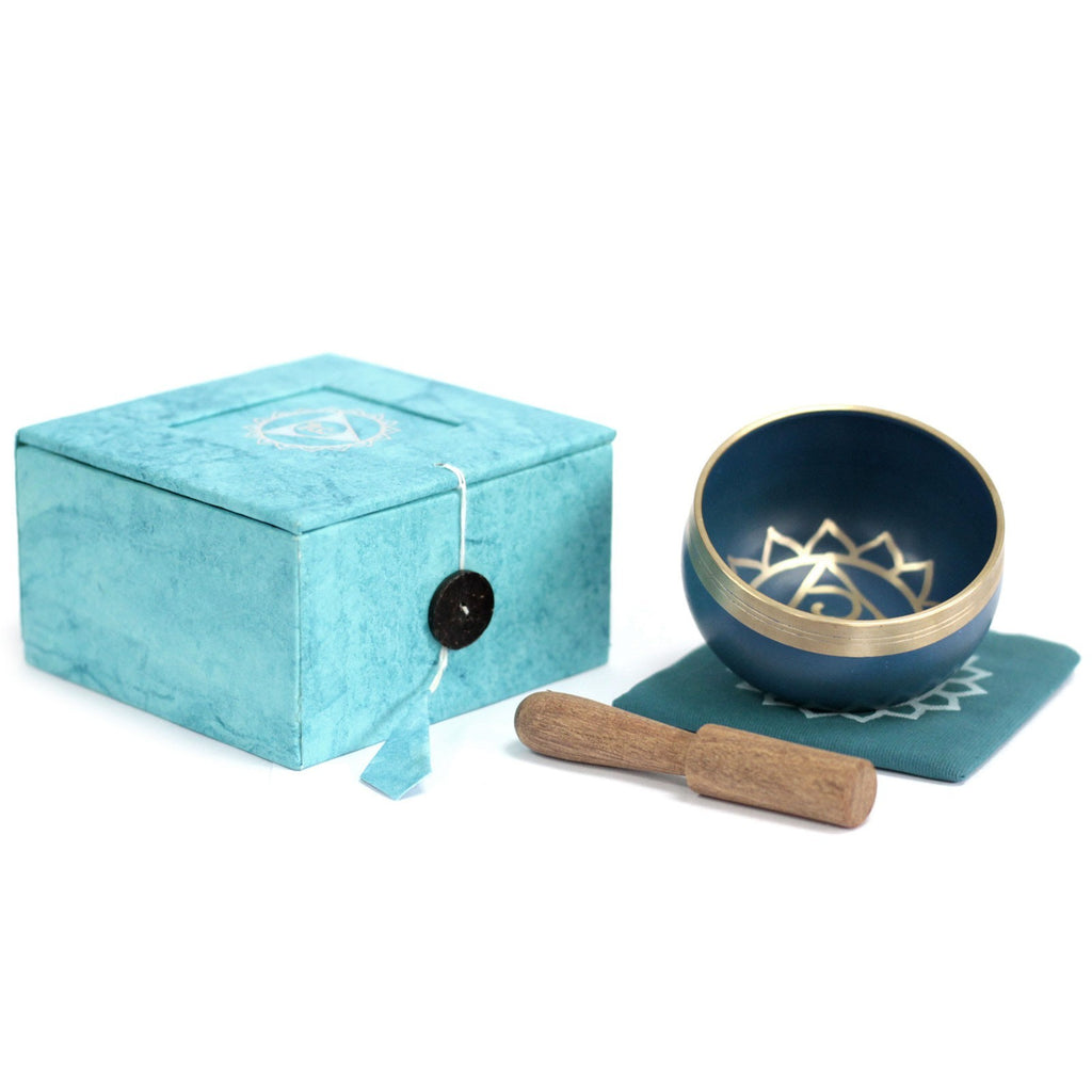 Tibetan Singing Bowl Set -Throat Chakra
