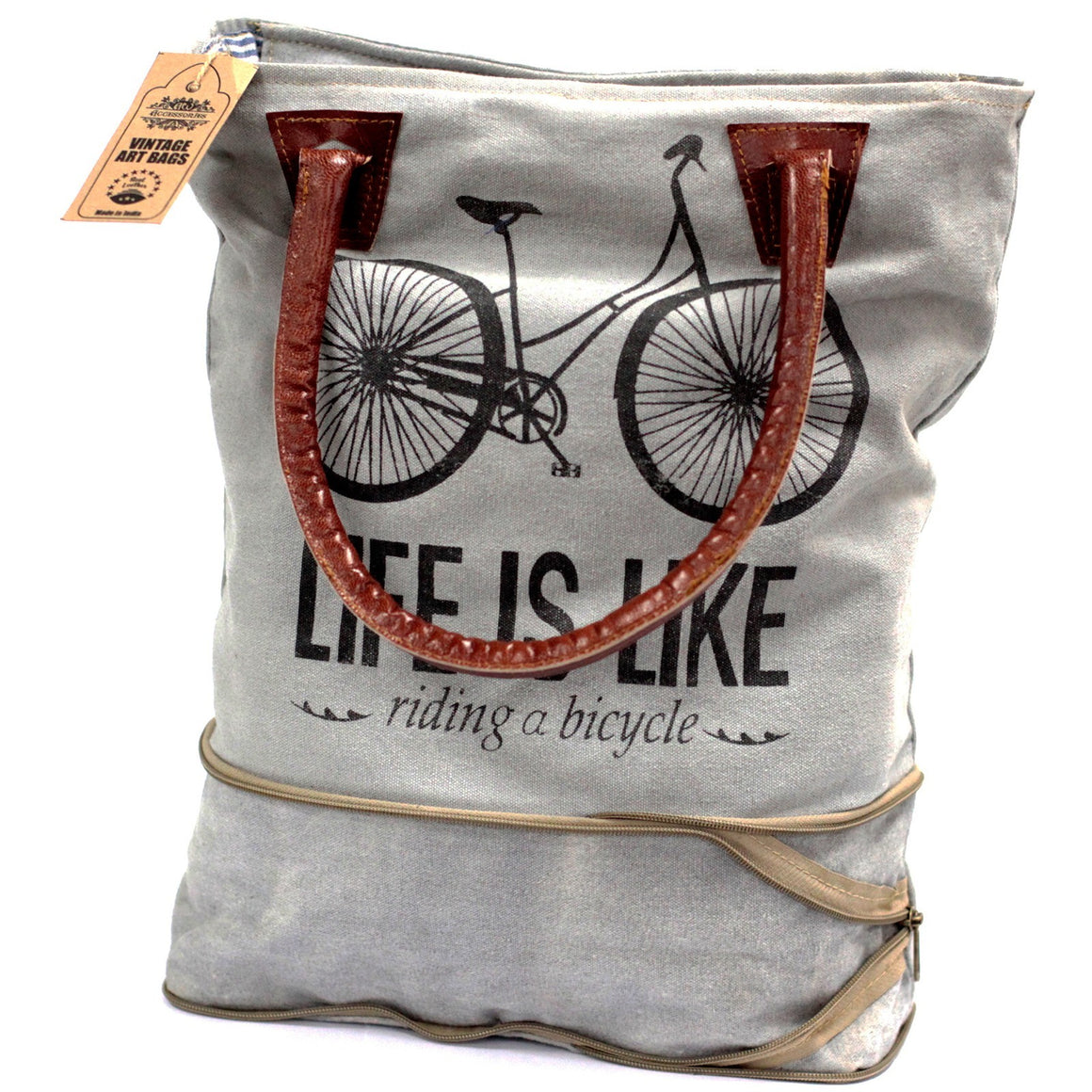 Bicycle-Expandable Vintage Handbag