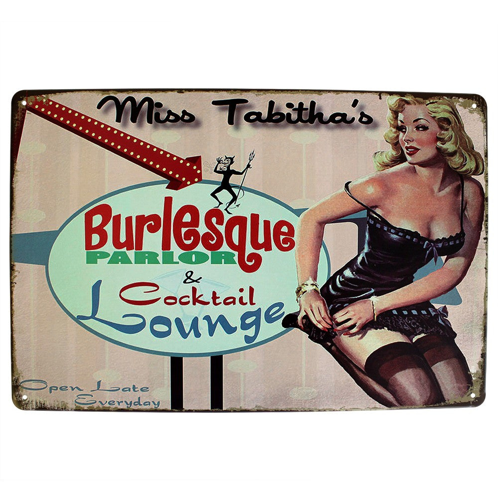 Metal Plaque - Burlesque Parlor