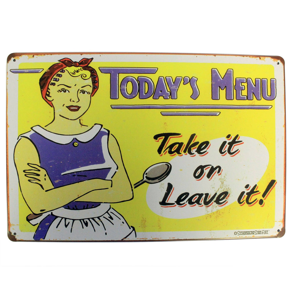 Metal Plaque - Today's Menu