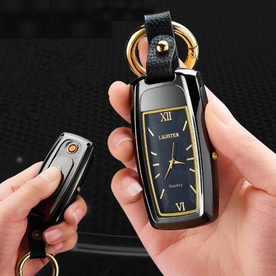 Watch USB Rechargeable Lighter Keyring