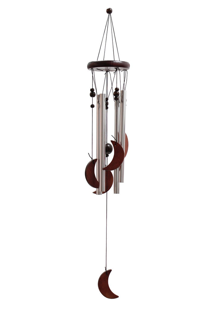 Classic Wood and Tube Chime - Moon