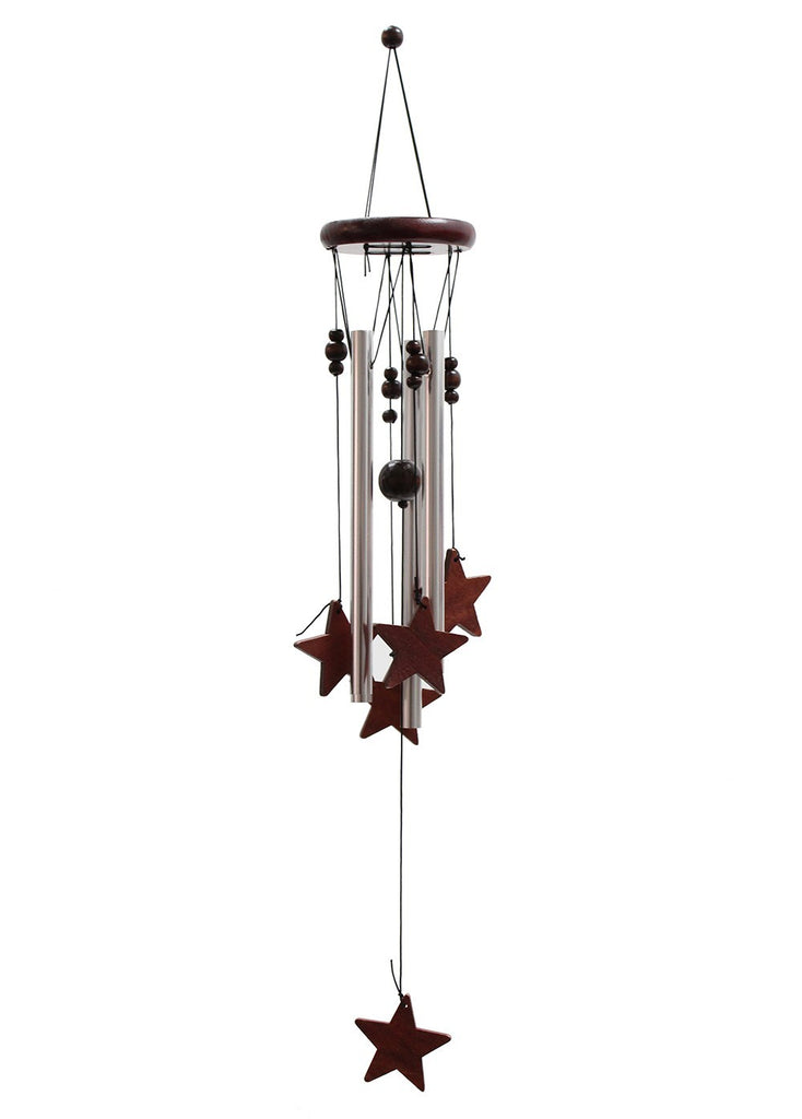 Classic Wood and Tube Chime - Stars