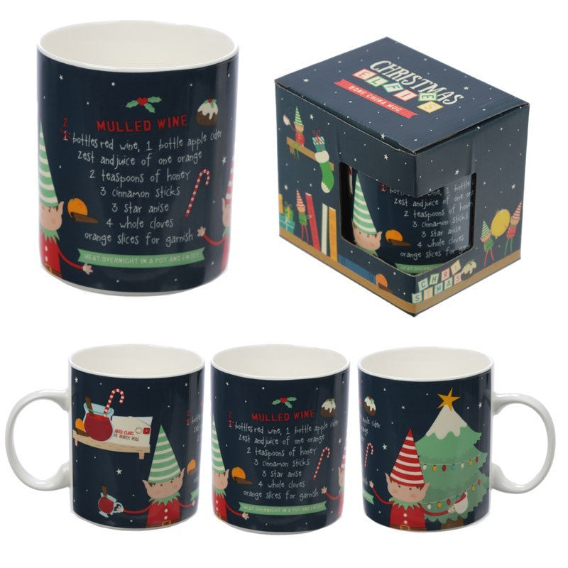 Christmas Elf Mulled Wine New Bone China Mug