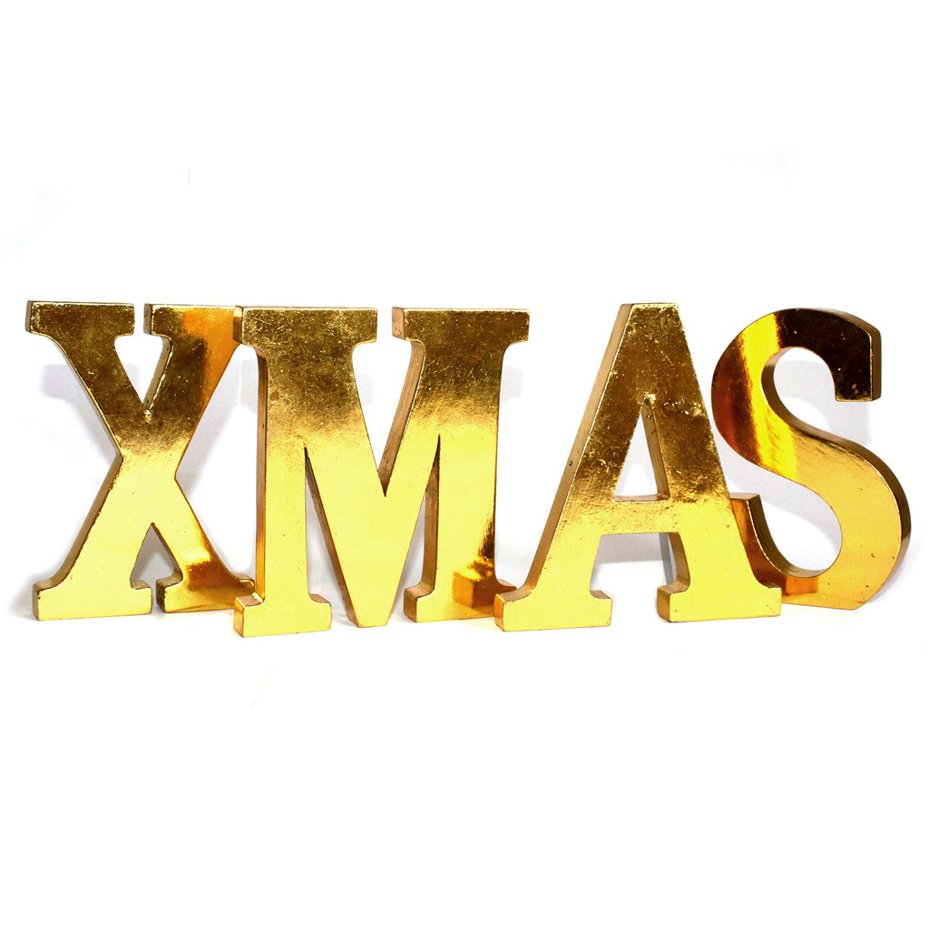 Shabby Chic Letters Gold - XMAS
