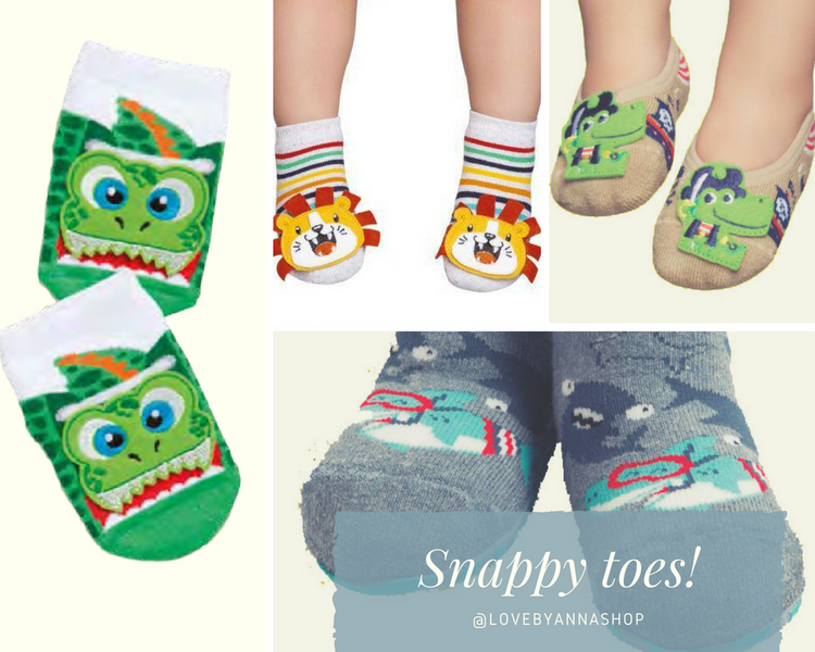 Snappy toes – give lovely little toes some teeth!