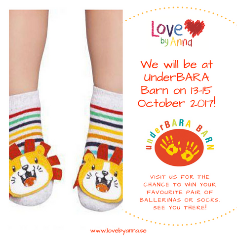 Come and see Love by Anna's socks at UnderBARA Barn 2017