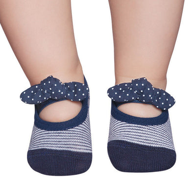Embellished baby ballerinas, navy & white