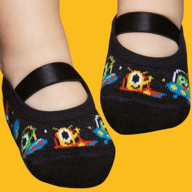 Basic baby ballerinas, black and colourful little monsters