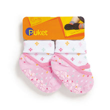 Set of toddler socks & footies, pink
