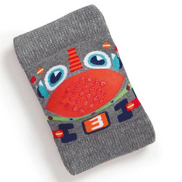 Baby knee pads, grey duck