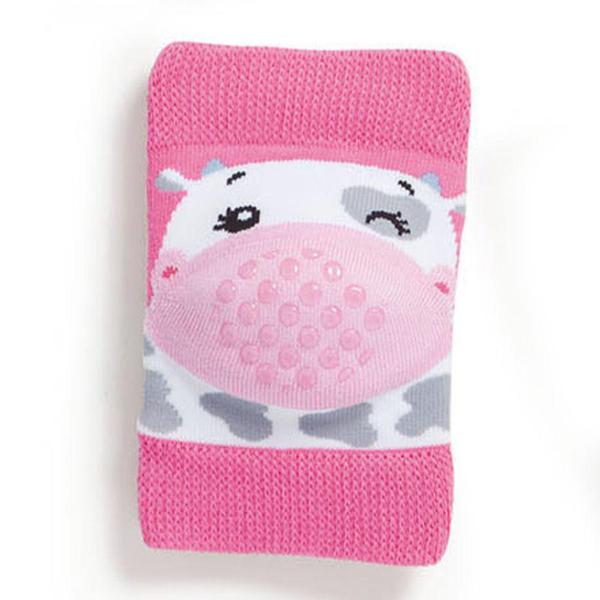 Baby knee pads, pink little cow
