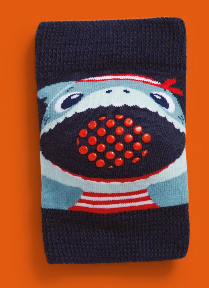 Baby knee pads, navy pirate