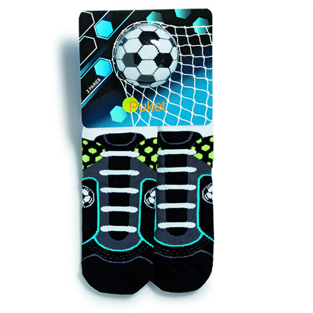 Set of 2 kids socks, football themed