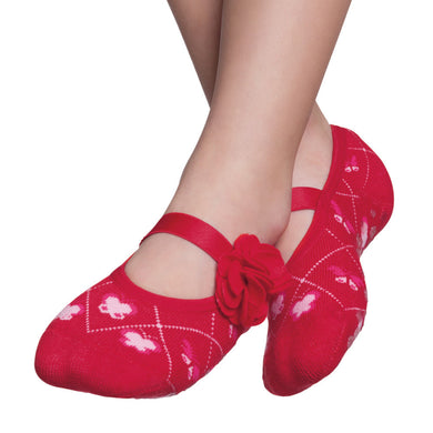 Embellished kids ballerinas, red