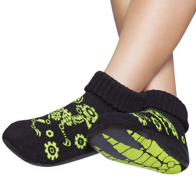 Basic kids complete anti-slip socks, dinosaur skeleton