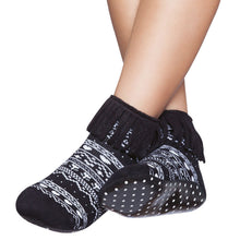 Embellished kids complete anti-slip socks, black & white