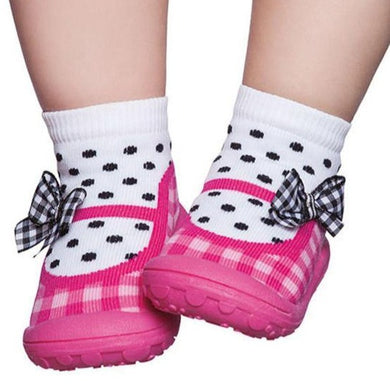 Baby Moccasin Pink Shoes & Socks design