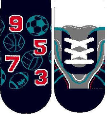 Set of 2 socks, football themed
