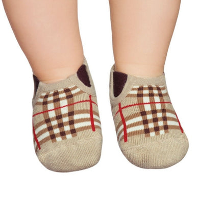 Basic toddler socks, Burberry's inspired design