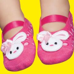 Embellished toddler ballerinas, pink rabbit