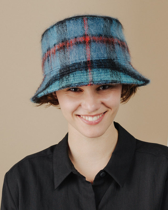 women wear blue-tartan